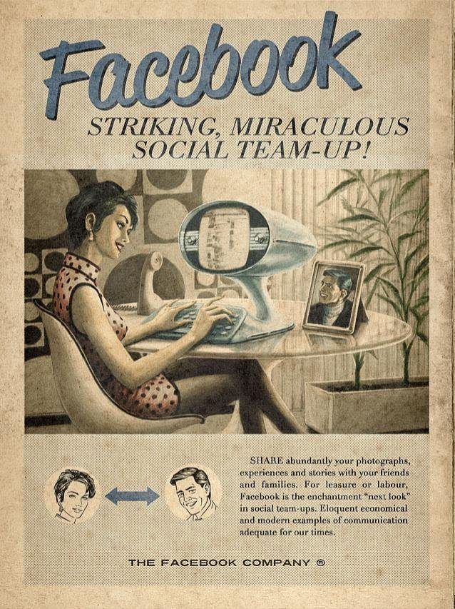 Facebook Vintage Style Advertisement