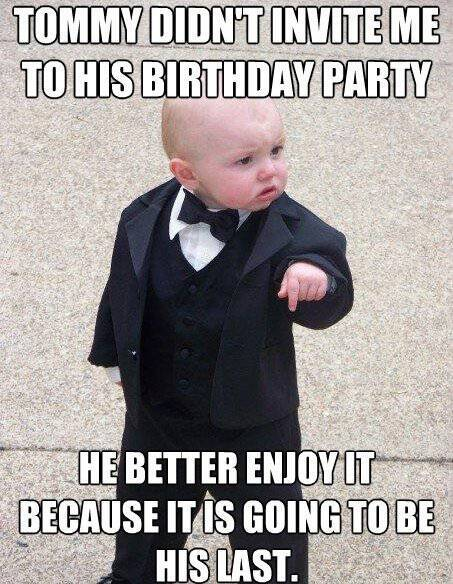 The Baby Godfather Wasn't Invited To Tommy's Birthday