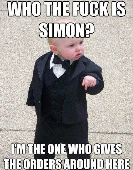 Baby Godfather Meme Simon Says