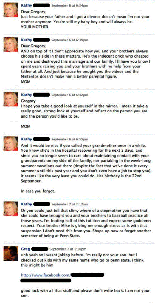 Awkward Facebook Interactions Crazy Facebook Mom