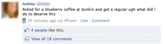 facebook wrong muffin The Worst Of The Best: First World Problems