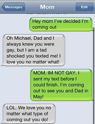 Coming Out To Mom Over Text