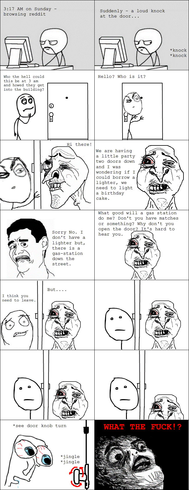 WTFiest Rage Cartoons Creepy Neighbor Rage Comic