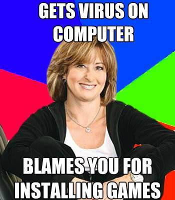 Suburban Mom Blames You For Computer Virus