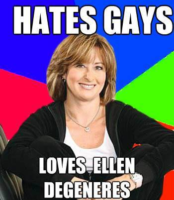 Sheltering Suburban Meme Hates Gays And Loves Ellen