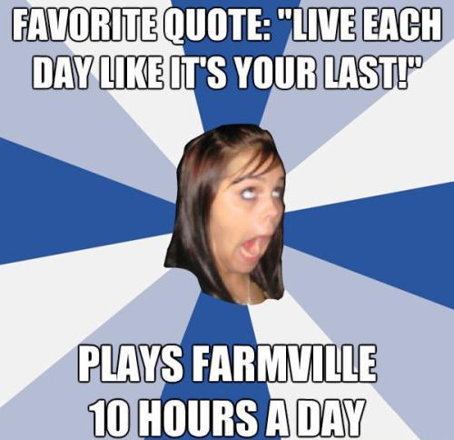 Facebook Girl Plays Farmville