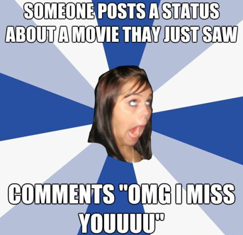 Facebook Girl Misses Everyone