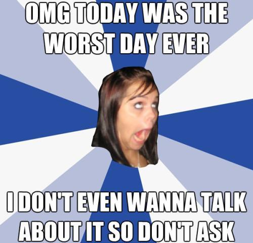 Facebook Girl Worst Day Ever