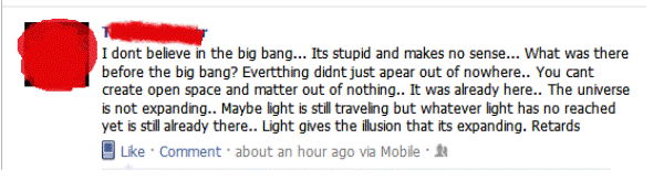 Dumbest Facebook Statuses Science Is For Retards