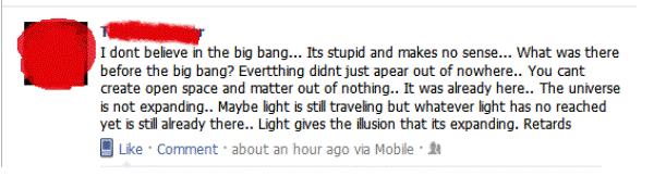 Dumbest Facebook Statuses Science Is For Retards