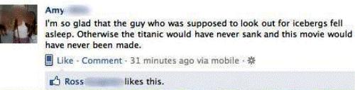 facebook-status-titantic-movie