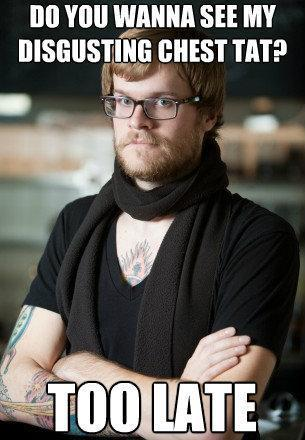 hipster-barista-disgusting-chest-tattoo