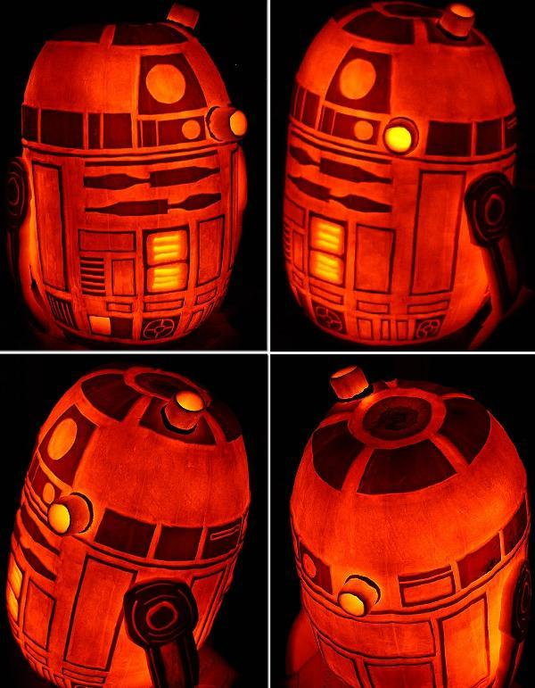 R2D2 Star Wars Jack o Lantern Photo