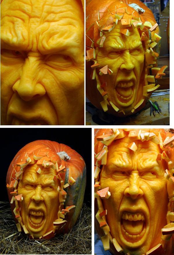 Ray Villafane Screaming Pumpkin Carving
