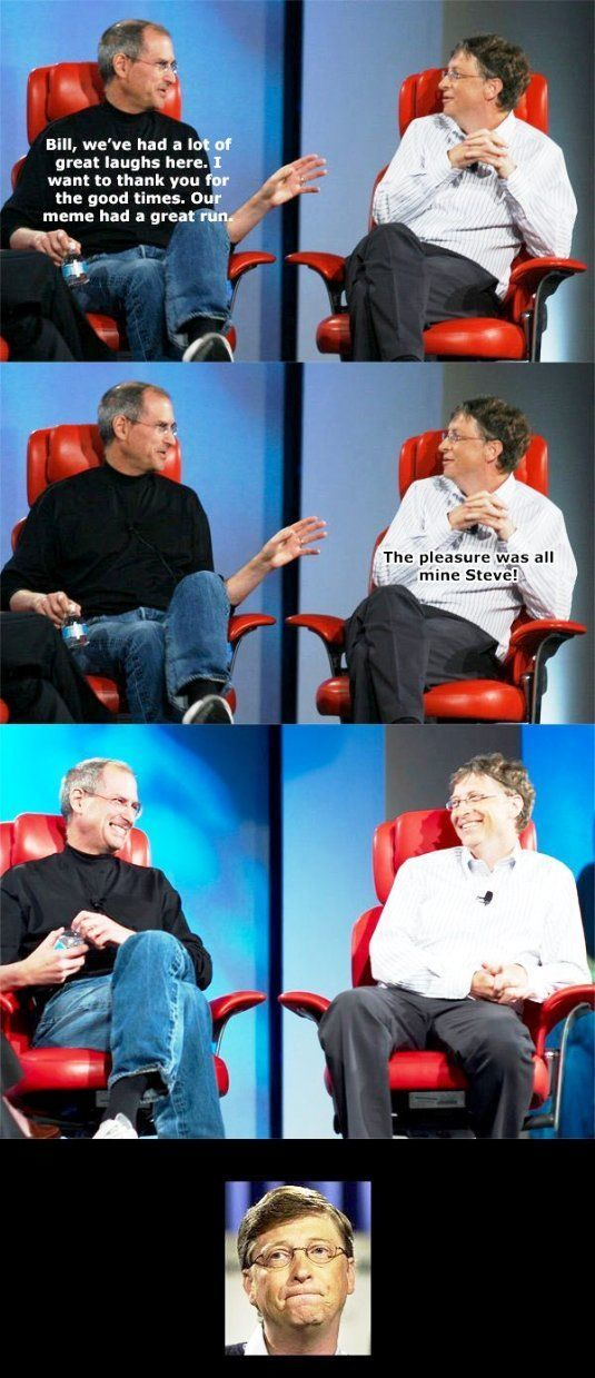 The End Of The Steve Jobs And Bill Gates Meme