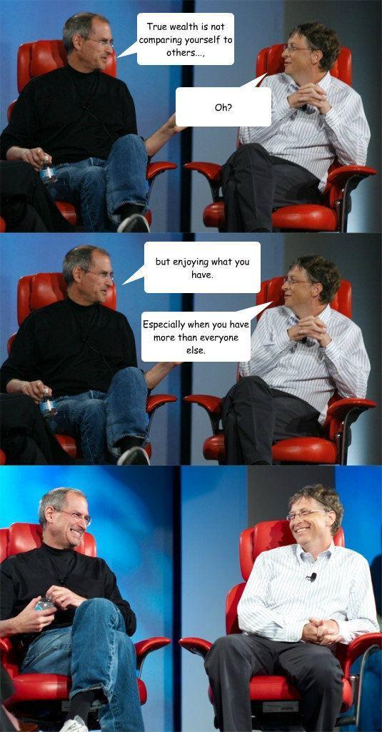 Steve and Bill Meme True Wealth