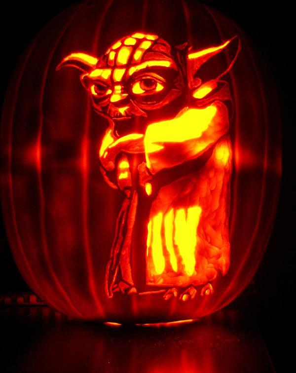 Star Wars Yoda Pumpkin