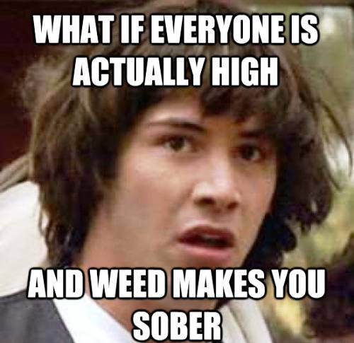 Keanu Meme Weed and Sobriety