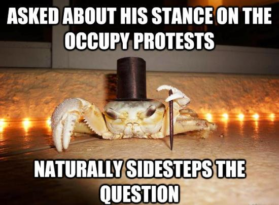 1 Percent Crab Meme Sidesteps Questions on Occupy Wall Street