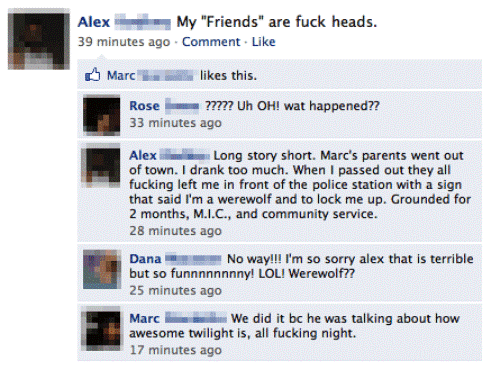 Funny Facebook Status Twilight Love