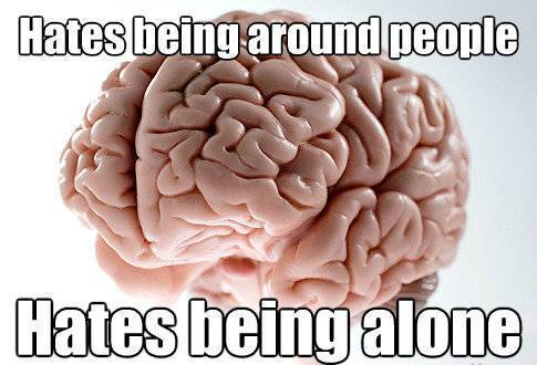 Brain Hates Loneliness And People