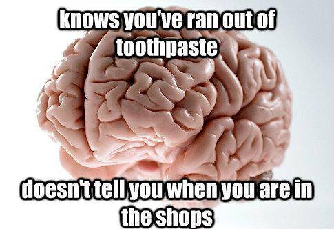 Brain Meme And Toothpaste