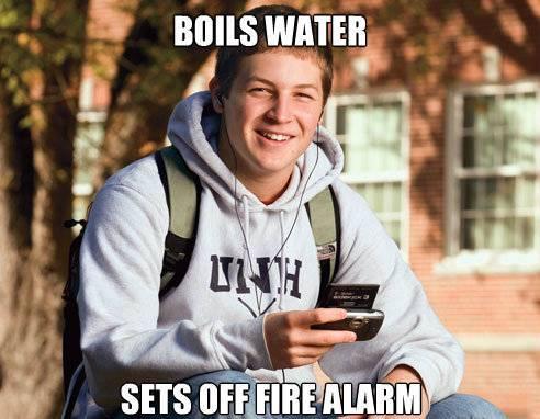 College Freshman Meme Fails At Cooking