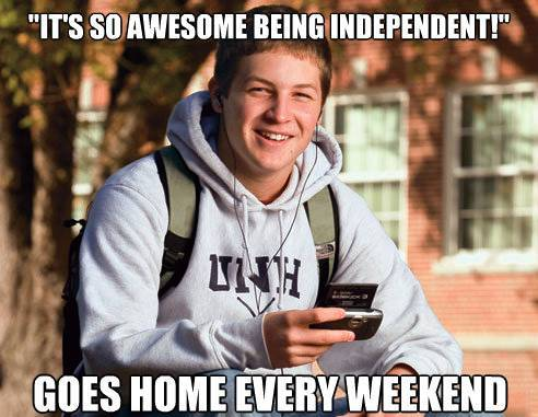 College Freshman Thinks He's Independent