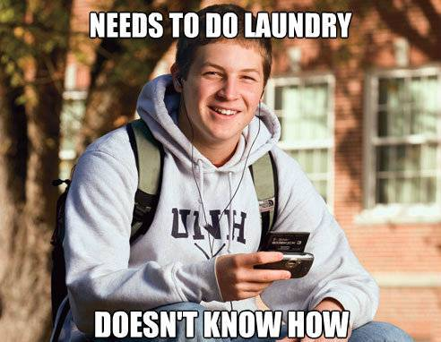 College Freshman Cannot Do Laundry