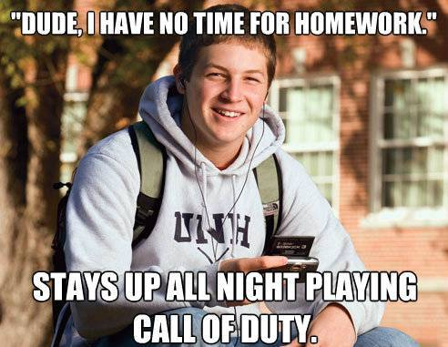 College Freshman Video Games