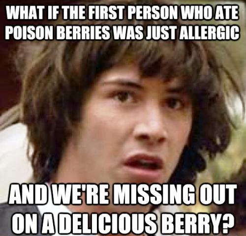 Stoned Keanu Eats Poison Berries