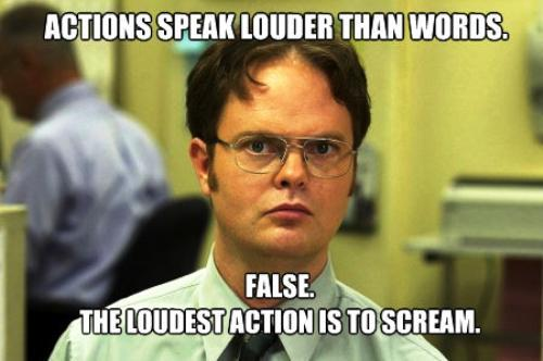 Dwight Schrute Facts On Actions Being Louder Than Words