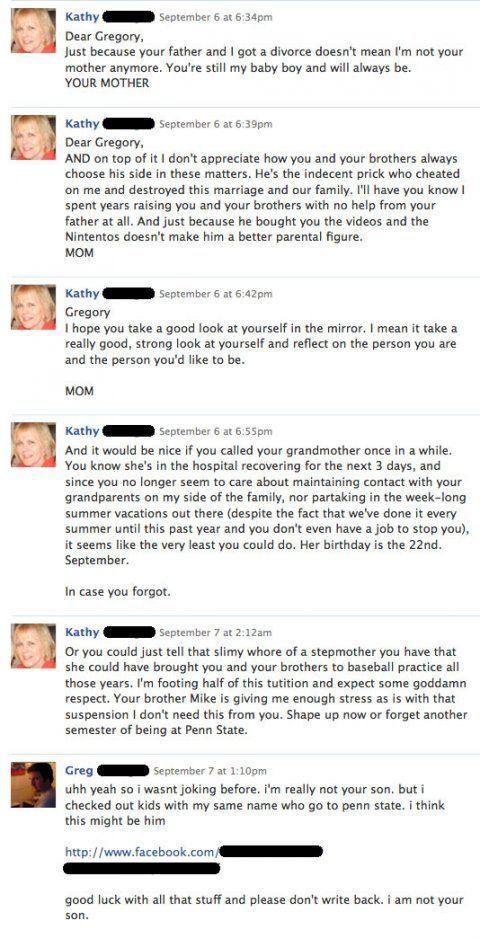Facebook Crazy Mom WTF