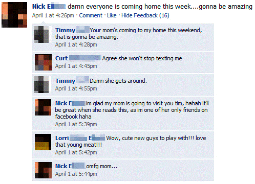 Mom Is Very Popular On Facebook