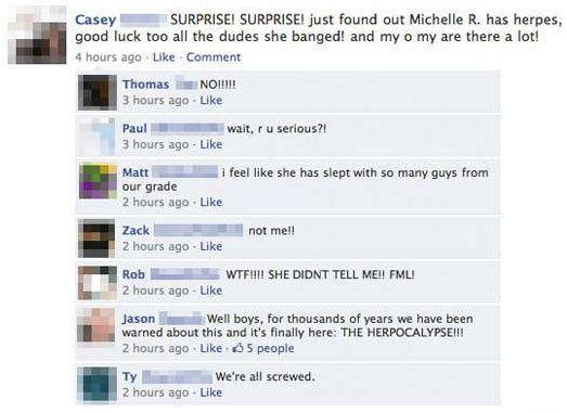 WTF Facebook Herpes Conversation
