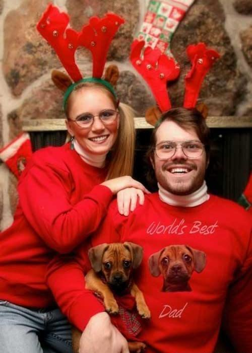 Hilarious Christmas Cards Dog Family Photo