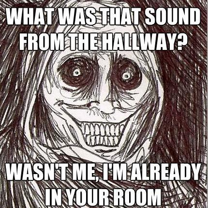 Horrifying Houseguest Meme Hallway Sound