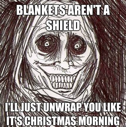 Horrifying Houseguest Meme Blanket Shield