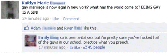 Facebook Gay Marriage