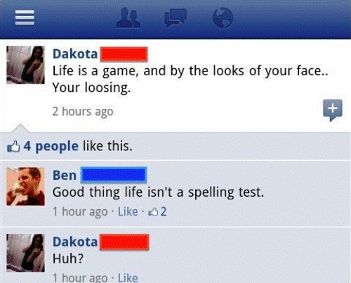 Facebook Fail Loosing Face