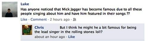 Mick Jagger Facebook