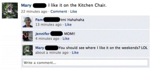 facebook parents mom tmi Nine More Reasons Not To Friend Your Parents On Facebook