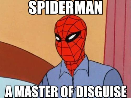 The 1960s Vintage Spiderman Meme Disguise
