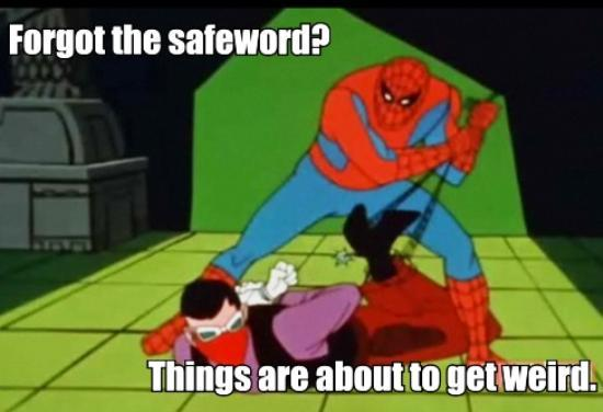 1960s Spidey Meme Safeword