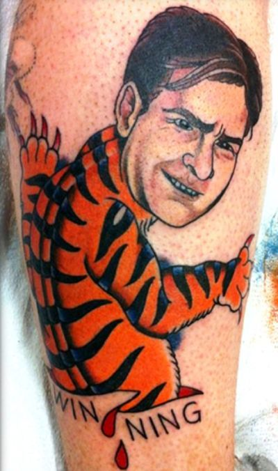 Terrible Tattoos Charlie Sheen