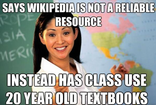 Unhelpful Teacher Wikipedia as a Source