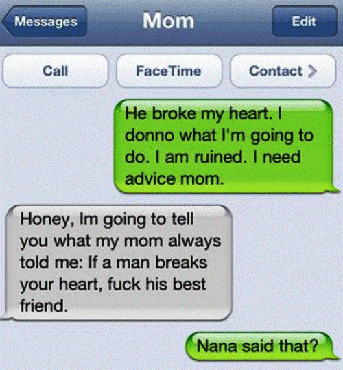 WTF iPhone Text Dirty Grandma