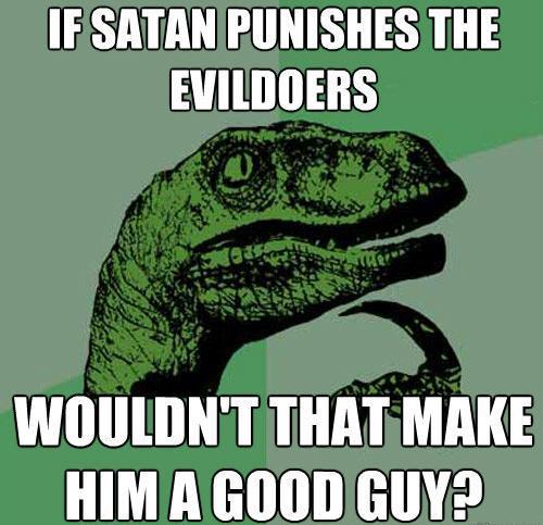 Philosoraptor Meme Satan Evildoers