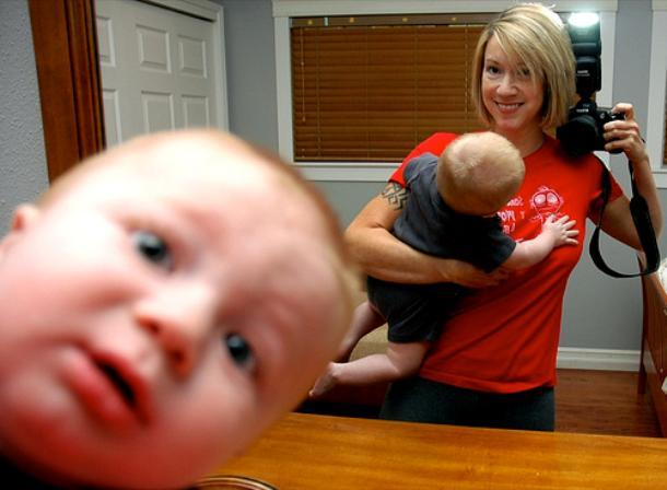 Photobombs Baby