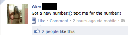 New Number Dumb Facebook Post